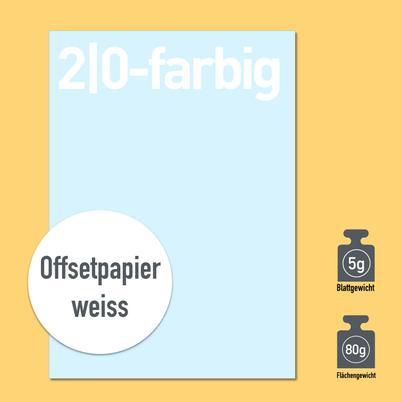 Briefbogen 2/0-farbig mit Papier 80g oder 90g