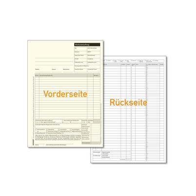 Werkstatt-Auftrag DIN A5, 2-fach, SD-Papier
