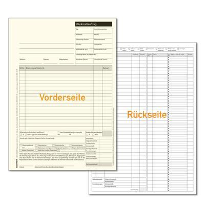 Werkstatt-Auftrag DIN A4, 2-fach, SD-Papier