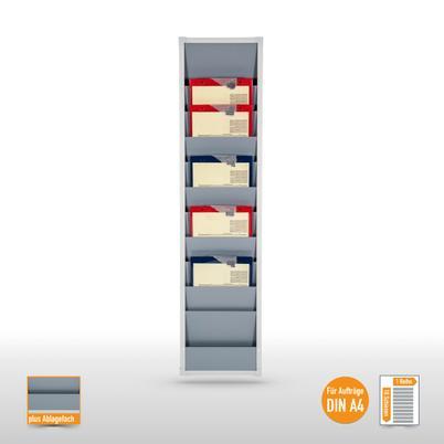 Plantafel für bis zu 10 DIN A4 Aufträge und Belege
