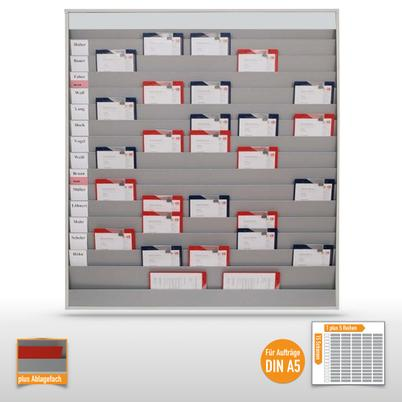 Werkstattplaner groß (für bis zu 75 x  DIN A5) mit Beschriftungsmöglichkeit