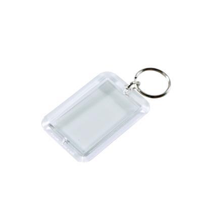 """Acryl-Schlüsselanhänger """"CAR"""" mit Ring (Einlagemaß 51/31mm)"""