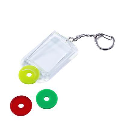 Schlüsselanhänger aus Acryl mit Einkaufswagenchip