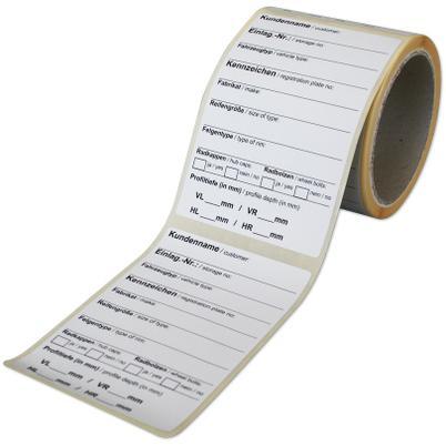 Einlagerungs-Etiketten weiß mit Spezialkleber (Rolle/100 Stück)