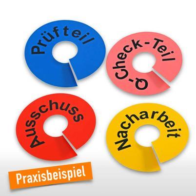 Kennzeichnungsringe aus PVC, individuell