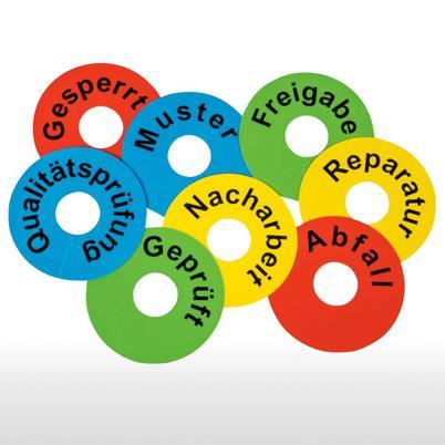 Kennzeichnungsringe aus PVC mit wählbarem Textmotiv