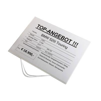 Infohalter zum Einstecken für DIN A4 Querformat