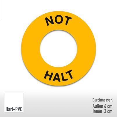 Maschinenkennzeichnung - Text: Not Halt