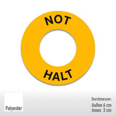 PROTECT Maschinenkennzeichnungsring - Text: Not Halt