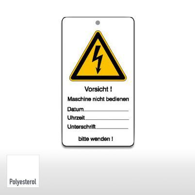 Wartungsanhänger - Vorsicht! Maschine nicht bedienen