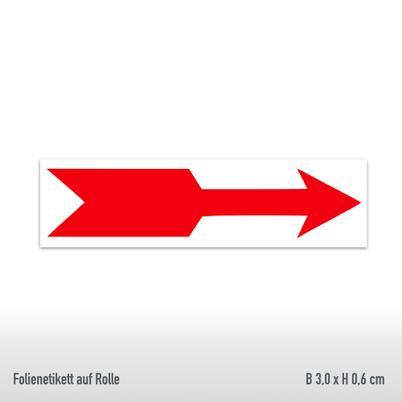 Drehrichtungspfeile - Ausführung: gerade, rot, abriebfest