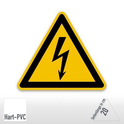 Warnschild - Warnung vor elektrischer Spannung (Kunststoff)