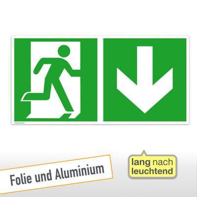 30 x 30 cm Sammelplatz Fluchtwegschild Aluminium