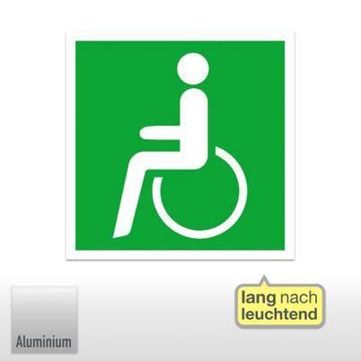 Rettungszeichen, Rettungsweg - Notausgang für Rollstuhlfahrer links