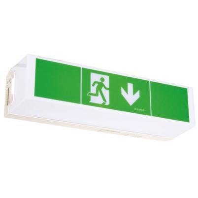 Sicherheits- Rettungszeichenleuchte inkl. 4 Piktogramme
