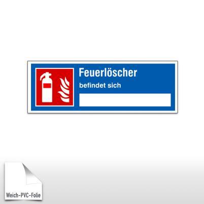 Brandschutz-Hinweisschild Feuerlöscher befindet sich ...
