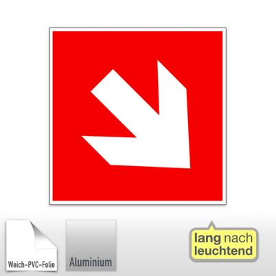 Brandschutz-Zusatzschild - Richtungsangabe aufwärts / abwärts, langnachleuchtend