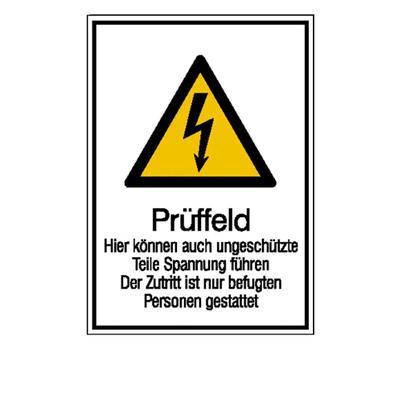 Warn-Kombischild - Prüffeld