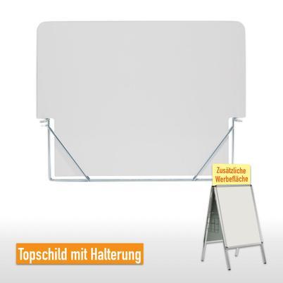 Topschild mit Halterung für Kundenstopper Classic