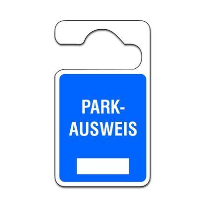 Parkausweis-Anhänger - Text: Parkausweis - zur Selbstbeschriftung