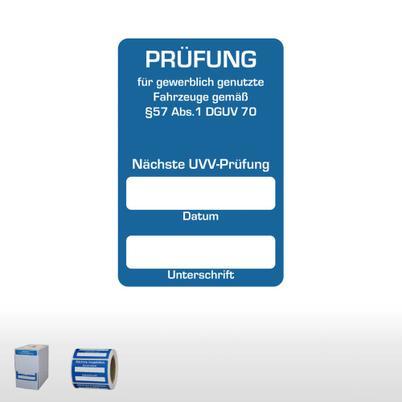 """Kundendienst-Aufkleber """"Nächste UVV-Prüfung"""""""