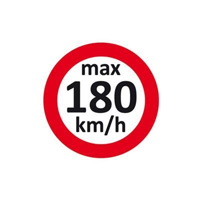 Geschwindigkeitsaufkleber 180 km/h