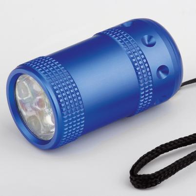 """LED Taschenlampe """"WUM"""" aus Metall mit Schlaufe"""