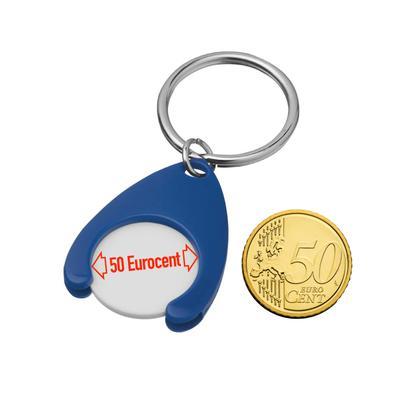 """Schlüsselanhänger """"SHOPY"""" mit EK-Chip, Grösse 0,50 Euro"""