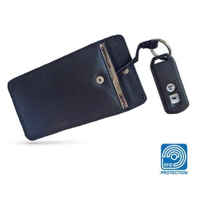 RFID Leder-Schlüsseletui mit Abschirmfolie