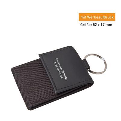 Mini-Börse mit Schlüsselanhänger, Papier und Kleingeldfach
