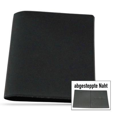 Ausweistasche schwarz, aus Schaumfolie mit 2 + 1 Fächern