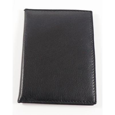 Ausweistasche aus echtem Leder in schwarz
