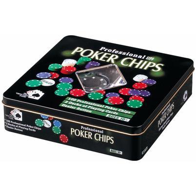 "Pokerset ""Full House"" in Box aus Metall"