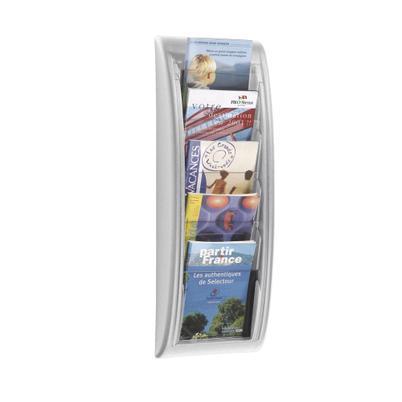 Wandhalter für Prospekte, Format DIN A5 - alufarben