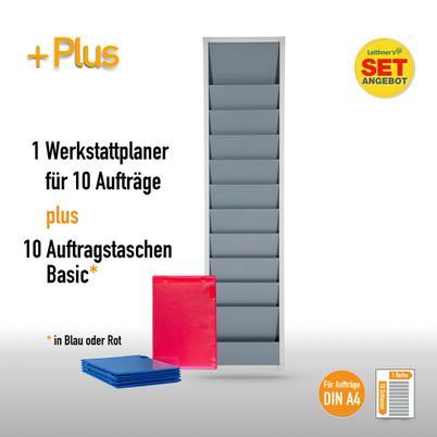 Plantafel-Set für DIN A4 (für 10 Aufträge + 10 Auftragstaschen)