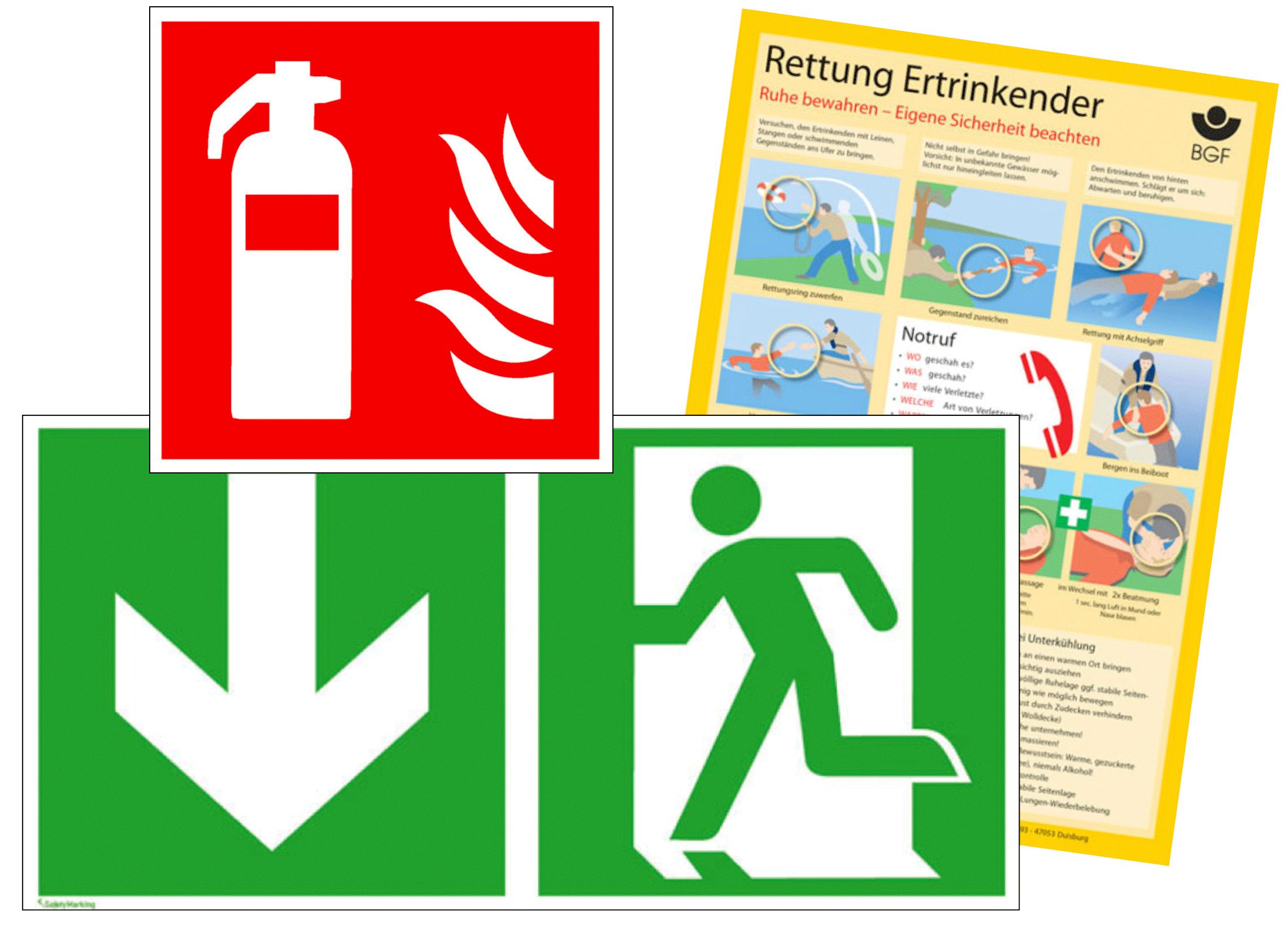 Brandschutz- und Fluchtwegekennzeichnung