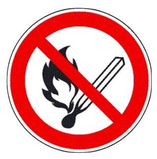 Verbotsschild offenes Feuer verboten