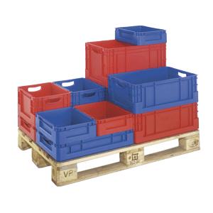 Euro-Transportbehälter auf Palette