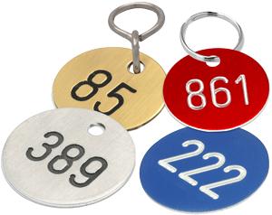 Kennzeichnungsmarken Kunststoff und Metall
